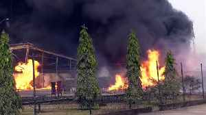 News video: Alcohol factory fire destroys local homes and school
