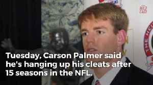 News video: Carson Palmer Calls It A Career 1 Day After Bruce Arians Retires