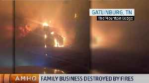 News video: Family Business Destroyed By Fires