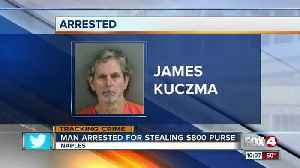News video: Man Arrested for Stealing $800 purse