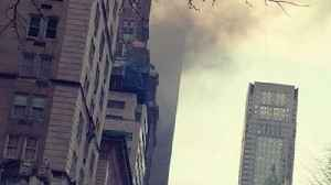 News video: Fire Breaks Out at Trump Tower in New York