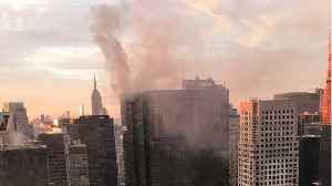 News video: Three People Injured In Fire Atop New York's Trump Tower