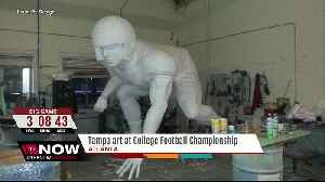 News video: Tampa artist showcasing commissioned work at National Championship game in Atlanta