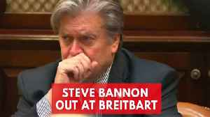 News video: Steve Bannon Out At Breitbart