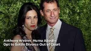 News video: Anthony Weiner, Huma Abedin Opt to Settle Divorce Out of Court
