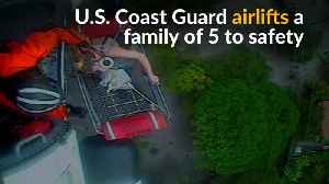 News video: U.S. Coast Guard airlifts family to safety in California mudslides