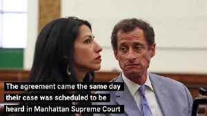 News video: Anthony Weiner, Huma Abedin opt to settle divorce out of court to spare young son embarrassment