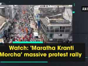 News video: Watch: 'Maratha Kranti Morcha' massive protest rally