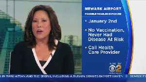 News video: Possible Measles Exposure At Newark Airport
