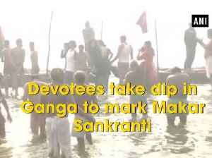 News video: Devotees take dip in Ganga to mark Makar Sankranti