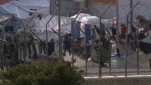 News video: Samos bursts at the seams as Pope preaches patience while local tempers fray