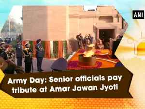 News video: Army Day: Senior officials pay tribute at Amar Jawan Jyoti