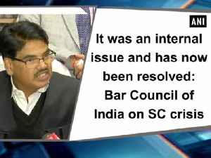 News video: It was an internal issue and has now been resolved: Bar Council of India on SC crisis