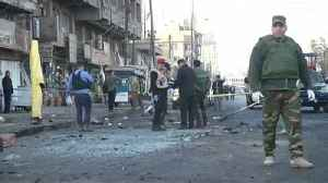 News video: Iraq: dozens killed as suicide bombers hit Baghdad market