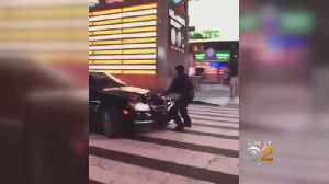 News video: Search On For Driver After Officer Struck By Car In Times Square