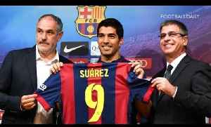 News video: Barcelona finally unveil new £75m signing Luis Suárez