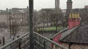 News video: Snow Showers Hit Belfast
