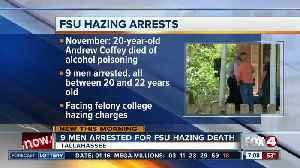 News video: 9 FSU students facing hazing charges