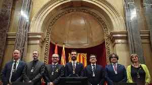 News video: Catalan parliament holds first meeting, voting in separatist MP as speaker