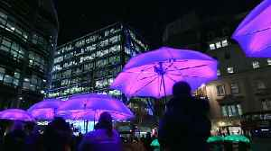 News video: London paints in light to banish the winter blues