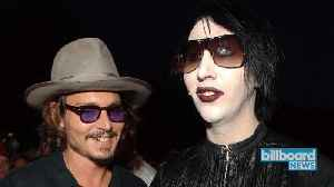 News video: Marilyn Manson Suggests Johnny Depp Might Join His Band | Billboard News