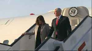 News video: US Vice President Mike Pence visits Middle East