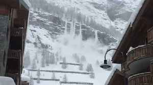News video: Zermatt Cut Off for Second Time in Weeks Due to Avalanche Threat