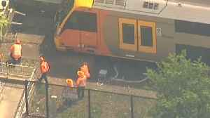 News video: Fifteen people hospitalized in Sydney train crash