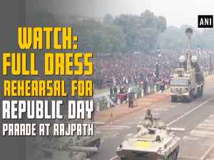 News video: Watch: Full dress rehearsal for Republic Day parade at Rajpath