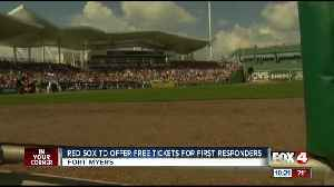 News video: Red Sox offering complimentary tickets to first responders