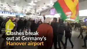 News video: Kurdish and Turkish supporters clash in Hanover airport
