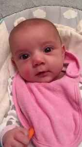 """News video: Eight-Week-Old Newborn Accidentally Says """"I Love You"""" To Mom"""