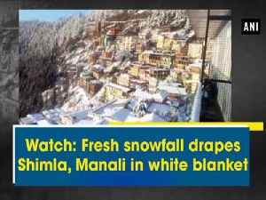 News video: Watch: Fresh snowfall drapes Shimla, Manali in white blanket