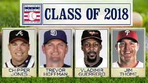 News video: Baseball Hall of Fame class of 2018 announced