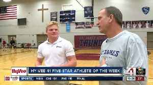 News video: St. James Academy's Cade Lautt is Hy-Vee Athlete of the Week