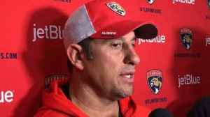 News video: Bob Boughner discusses goalie position after James Reimer's pulled groin