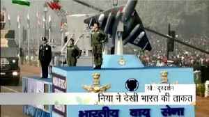 News video: Indian Air Force showed its strength with women power in the 69th Republic Day Parade