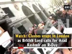 News video: Watch: Clashes erupt in London as British Lord calls for Azad Kashmir on R-Day