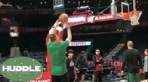 News video: Gordon Hayward RETURNS to the Court to Shoot Before Celtics vs Clippers -The Huddle