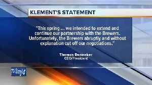 News video: Klement's dropped as sponsor of Milwaukee Brewers' Racing Sausages
