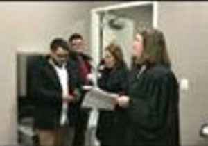 News video: New Jersey Couple Get Married in Courthouse Bathroom After Groom's Mom Falls Ill