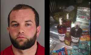 News video: Escaped Inmate Arrested Running Back to Texas Jail With Bag of Booze, Food