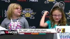 News video: Young sisters show Northern Kentucky University volleyball team the meaning of perseverance