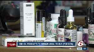 News video: Ind. Gov. Eric Holcomb extends grace period for CBD Oil confiscations