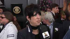 News video: Diane Warren's Red Carpet Arrival At The 60th Annual GRAMMY Awards