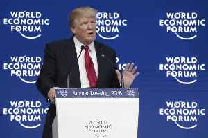 News video: Trump Says He's a 'Cheerleader' for America in Davos