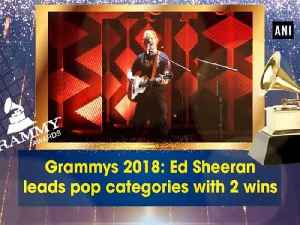 News video: Grammys 2018: Ed Sheeran leads pop categories with 2 wins