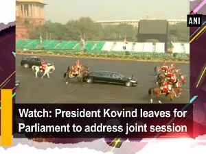 News video: Watch: President Kovind leaves for Parliament to address joint session
