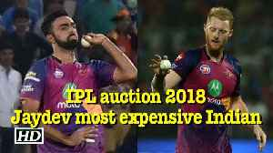 News video: IPL auction 2018 | Jaydev Unadkat, most expensive Indian