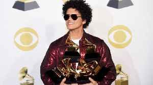 News video: Bruno Mars Dominates the GRAMMYs: Watch His Acceptance Speeches and Performance!